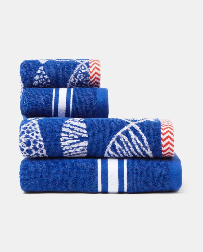Asciugamano decori jacquard puro cotone