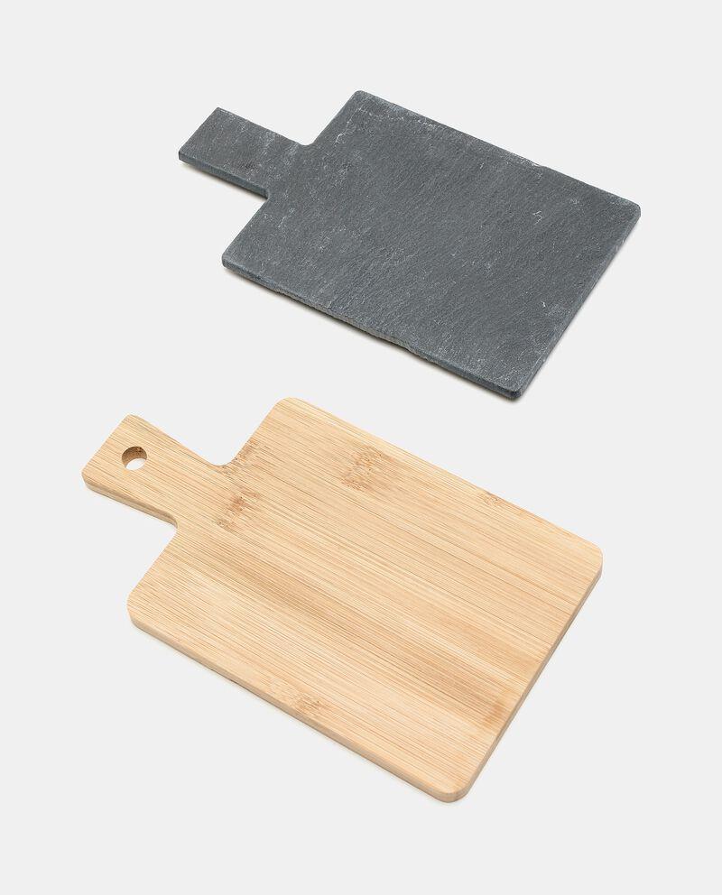 Set 2 taglieri in ardesia e legno single tile 1
