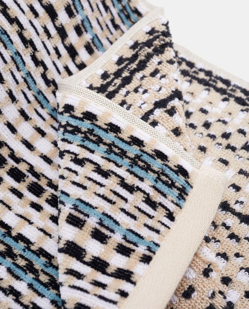 Asciugamano ospite a quadretti in puro cotone