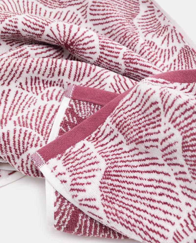 Asciugamano ospite in puro cotone con fantasia rose