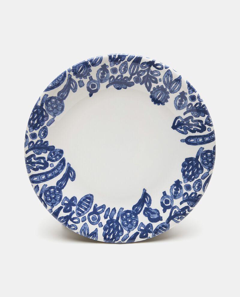 Piatto piano decorato in ceramica