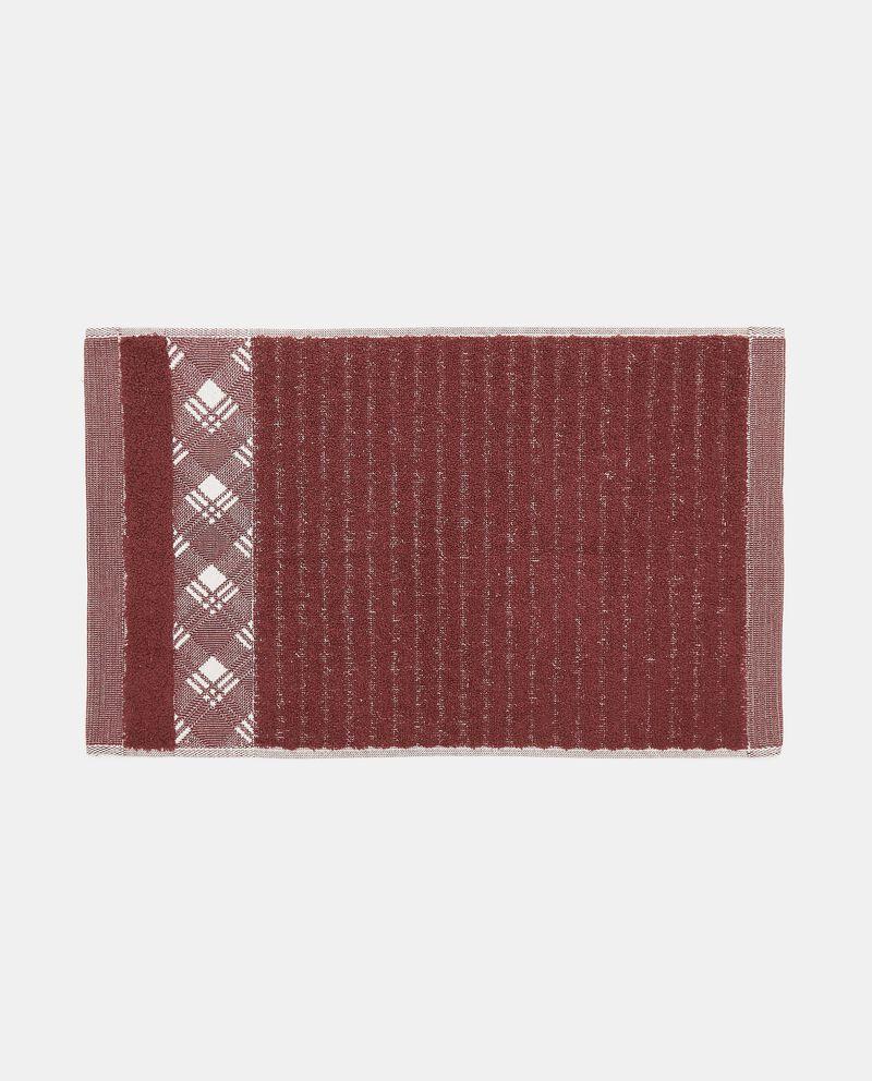 Asciugamano mani in puro cotone con bordo scozzese single tile 1