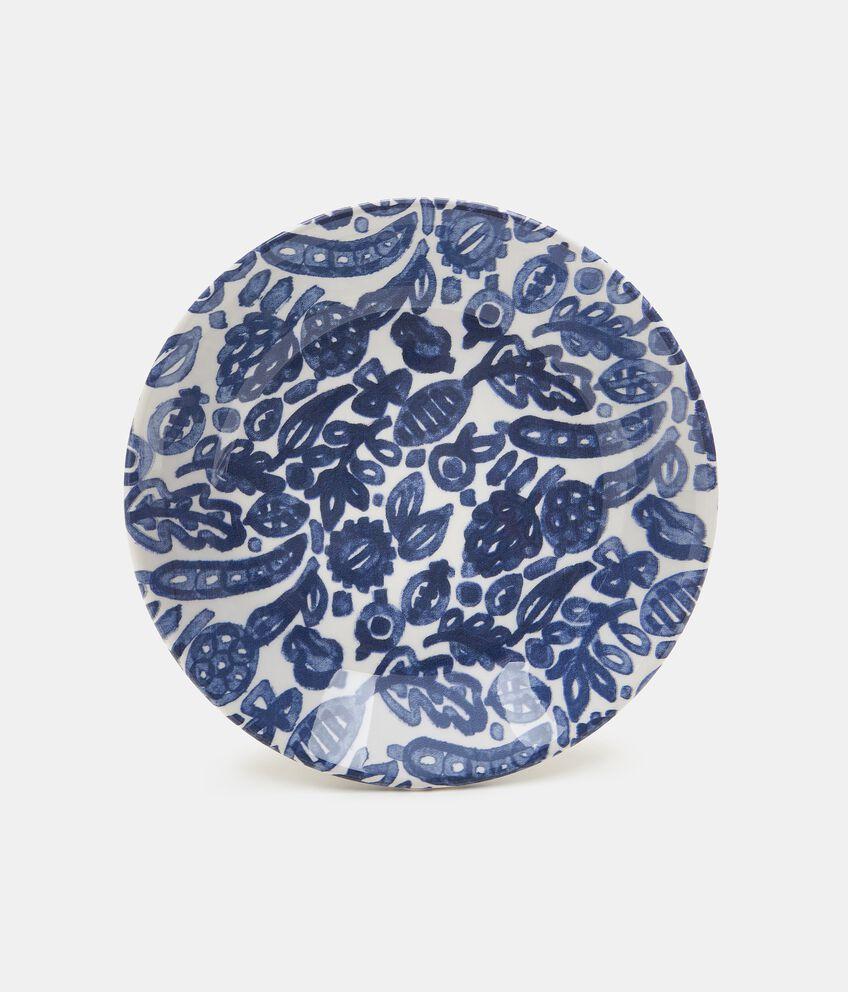Piatto fondo con decorazioni in ceramica