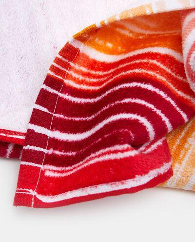 Set con asciugamano ospite e asciugamano viso in puro cotone