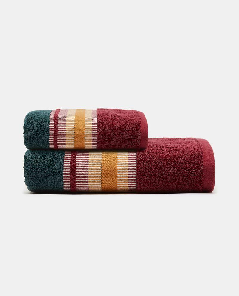 Asciugamano mani in puro cotone con righe polo cover