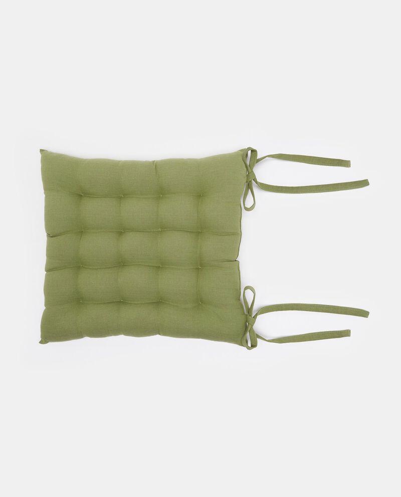 Cuscino trapuntato con laccetti