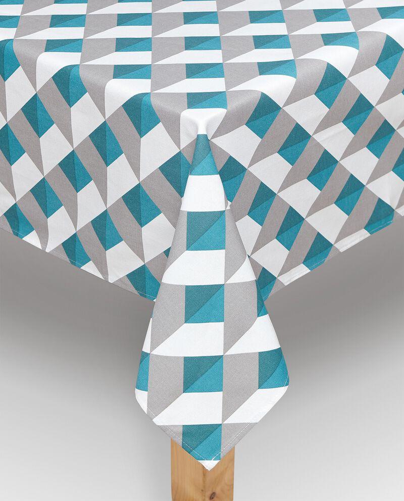 Tovaglia in fantasia geometrica di puro cotone