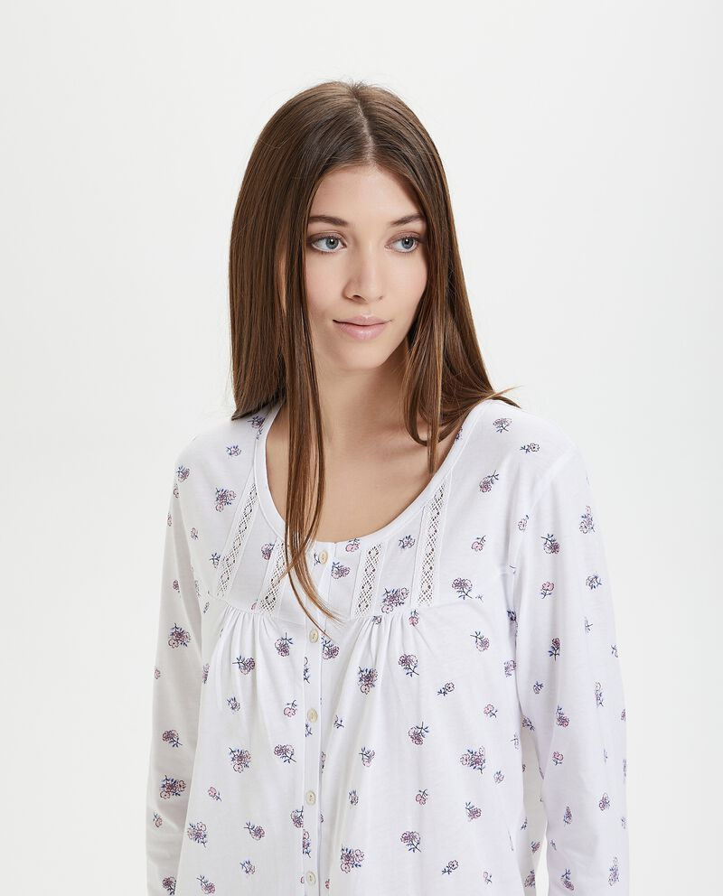 Camicia da notte in fantasia puro cotone