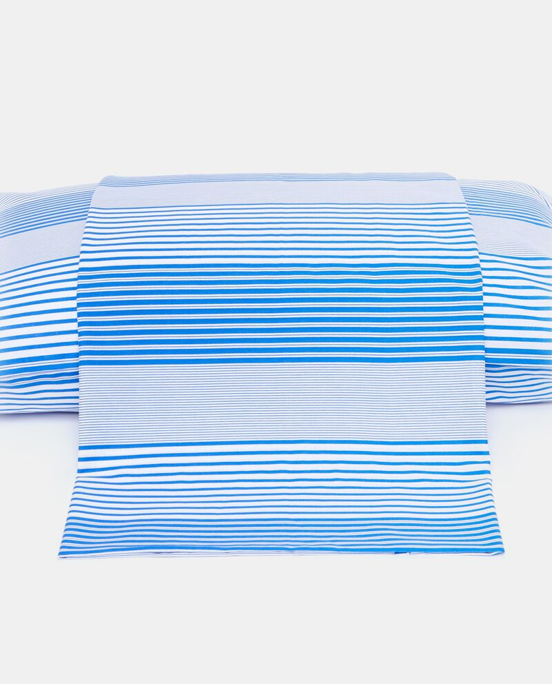 Lenzuolo blu una piazza con motivo a righe