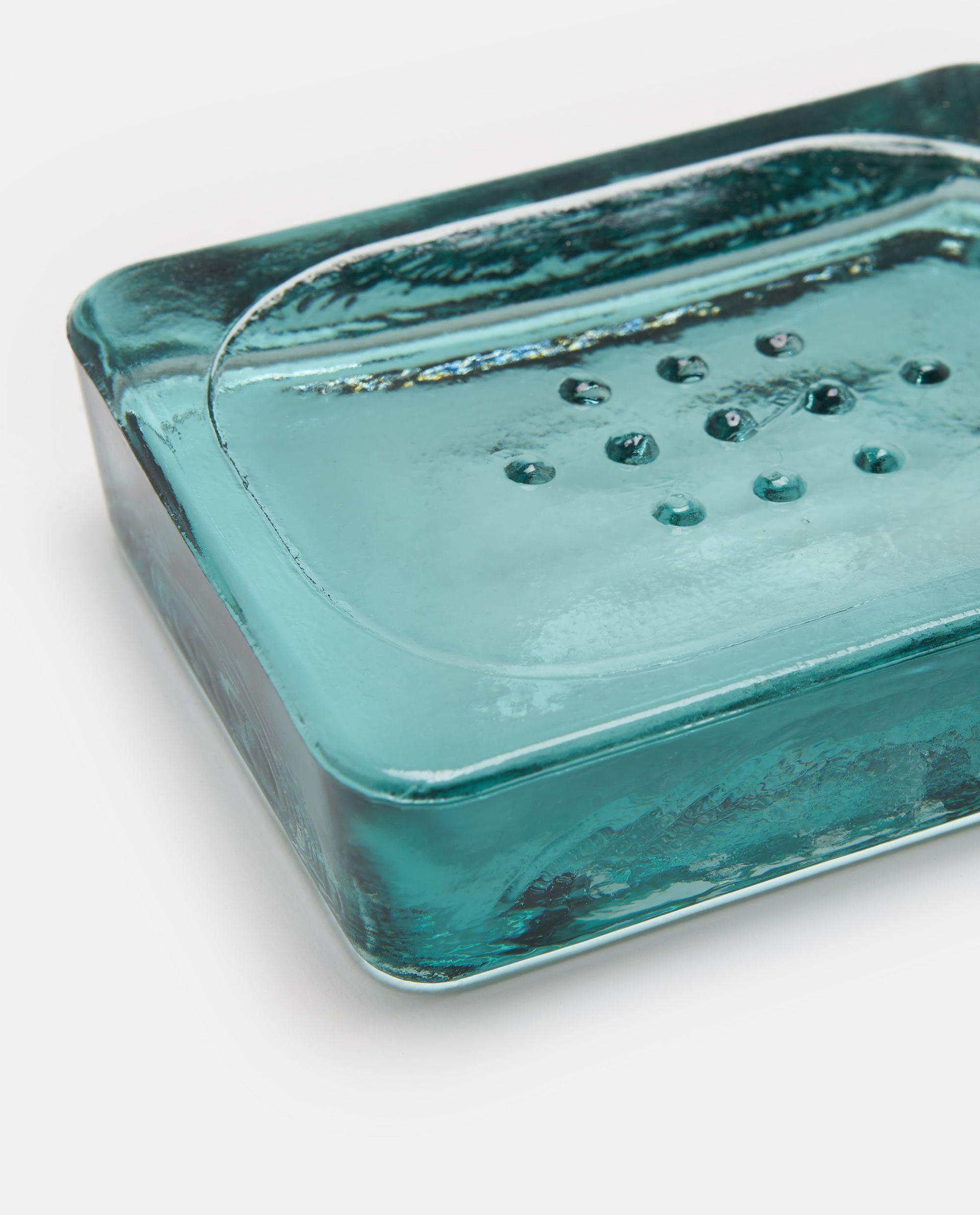 Set tre accessori bagno vetro riciclato