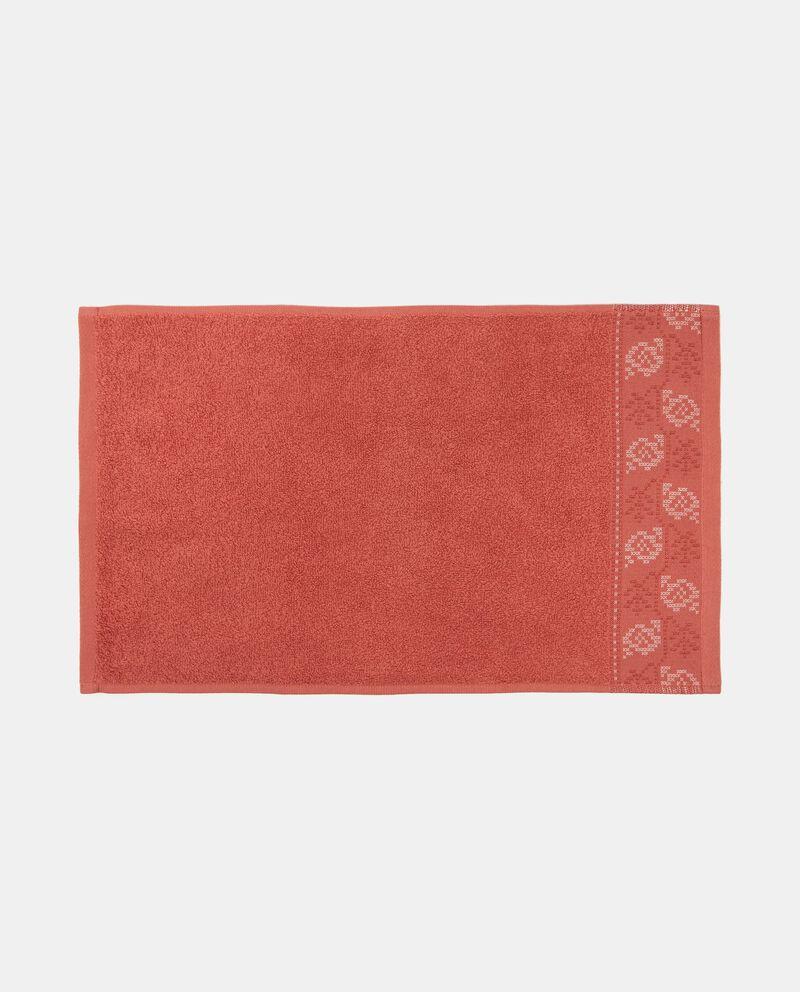 Asciugamano bordo lavorato jacquard