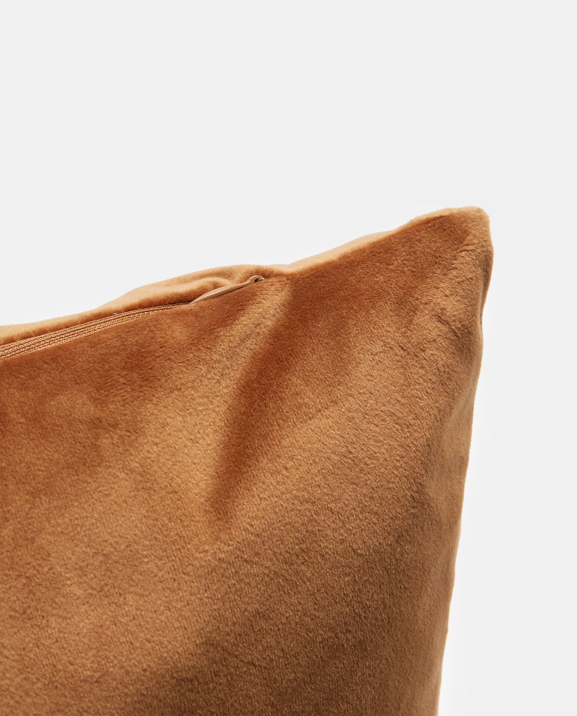 Cuscino quadrato in velluto con zip