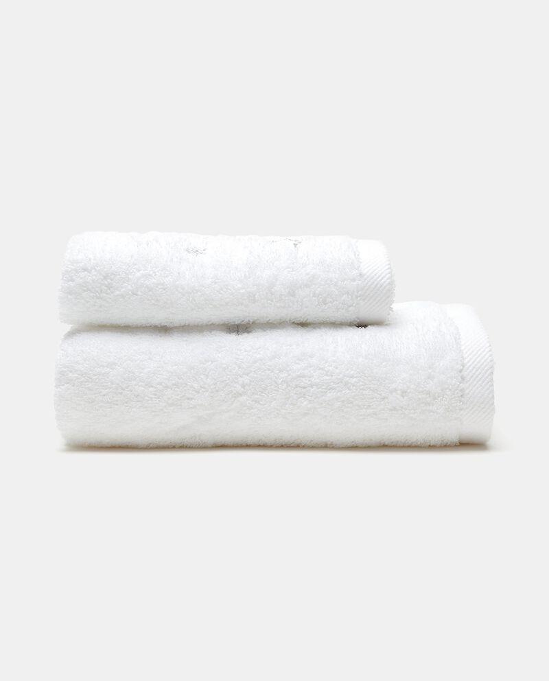 Set asciugamani ospite in puro cotone con ricamo albero di Natale