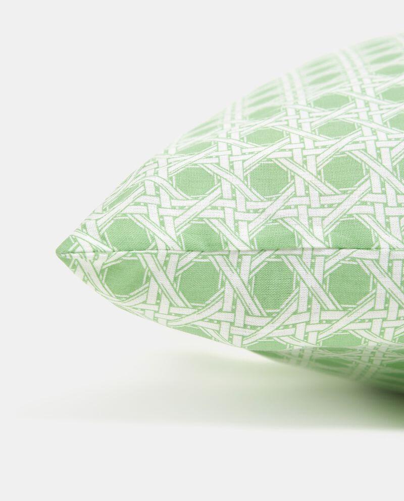Federa con fantasia geometrica in puro cotone