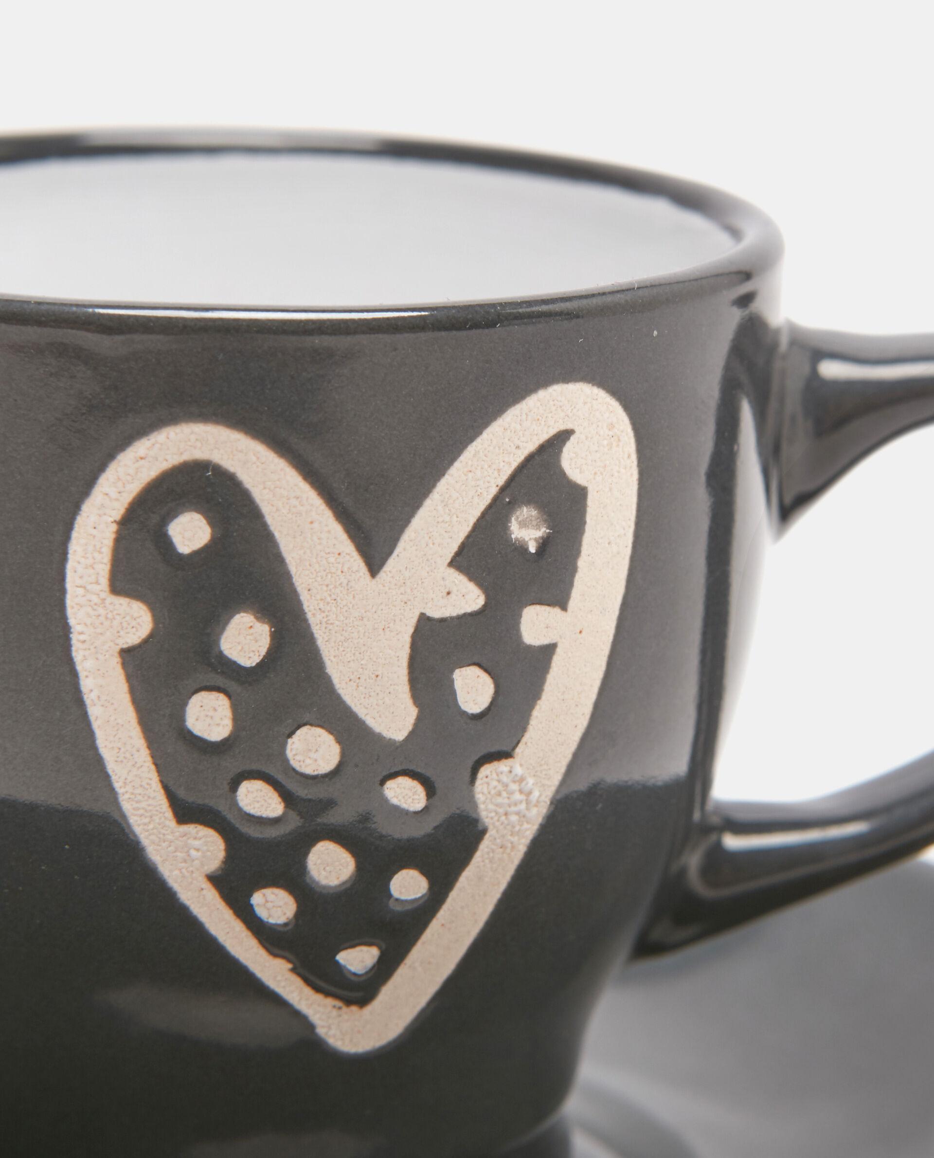 Tazzina caffè in ceramica cuore
