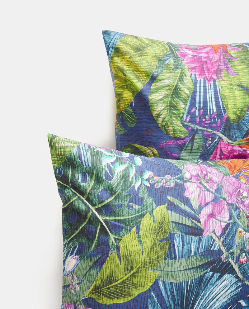 Parure letto con fantasia tropicale in puro cotone