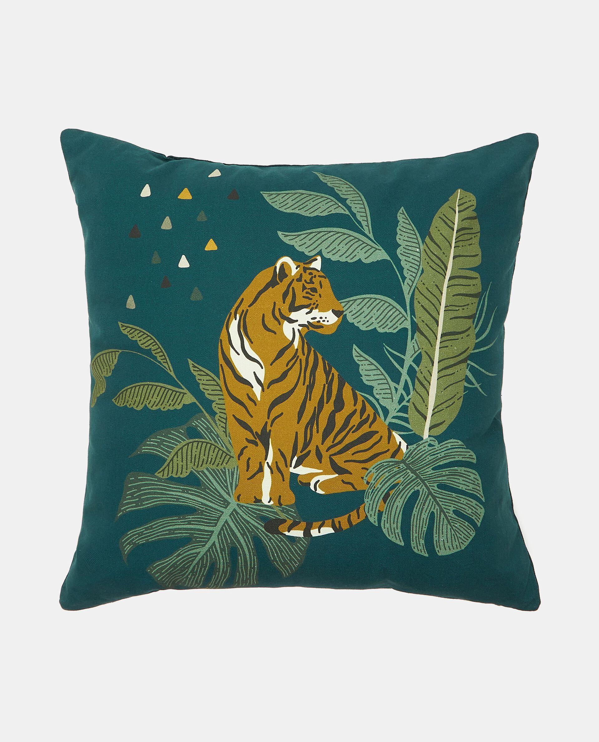 Cuscino arredo con stampa tigre