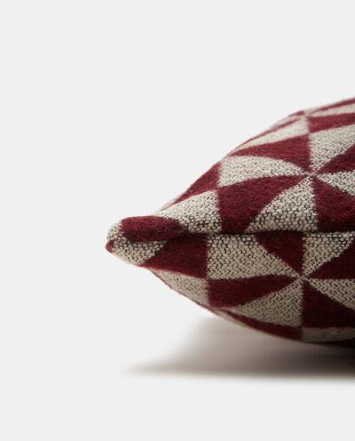 Cuscino wool con stampa geometrica detail 1