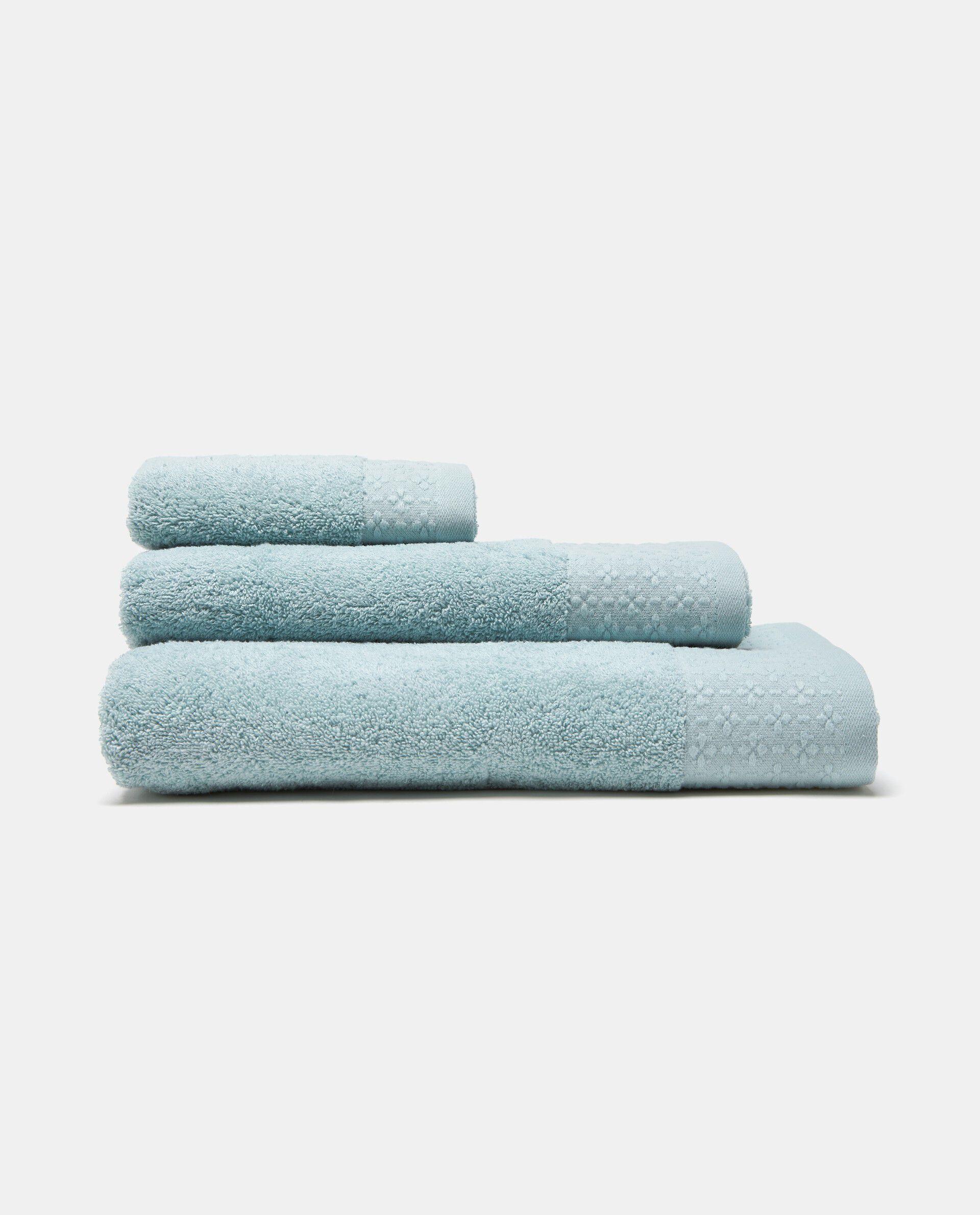 Set tre asciugamani con decoro floreale