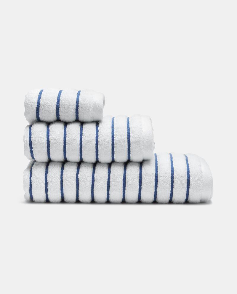 Asciugamano ospite a righe in puro cotone cover