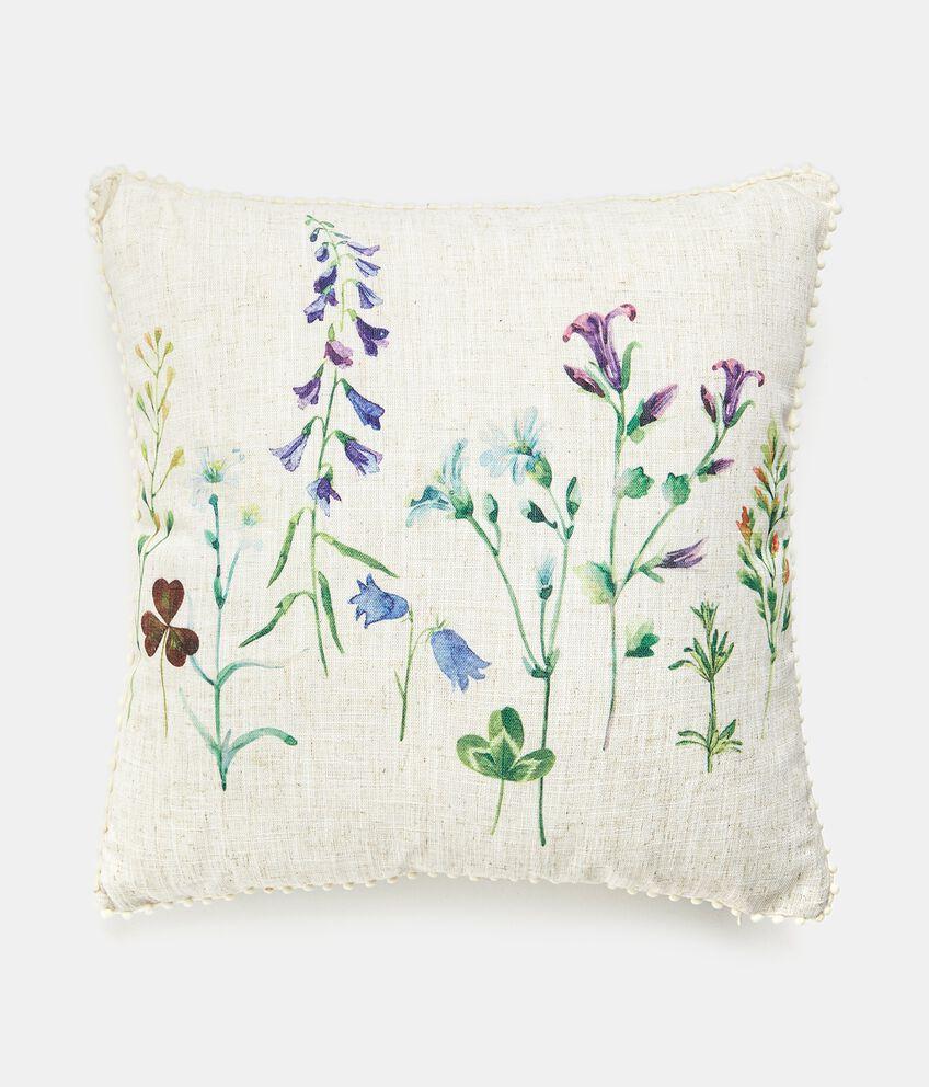 Cuscino con stampa digitale fiori