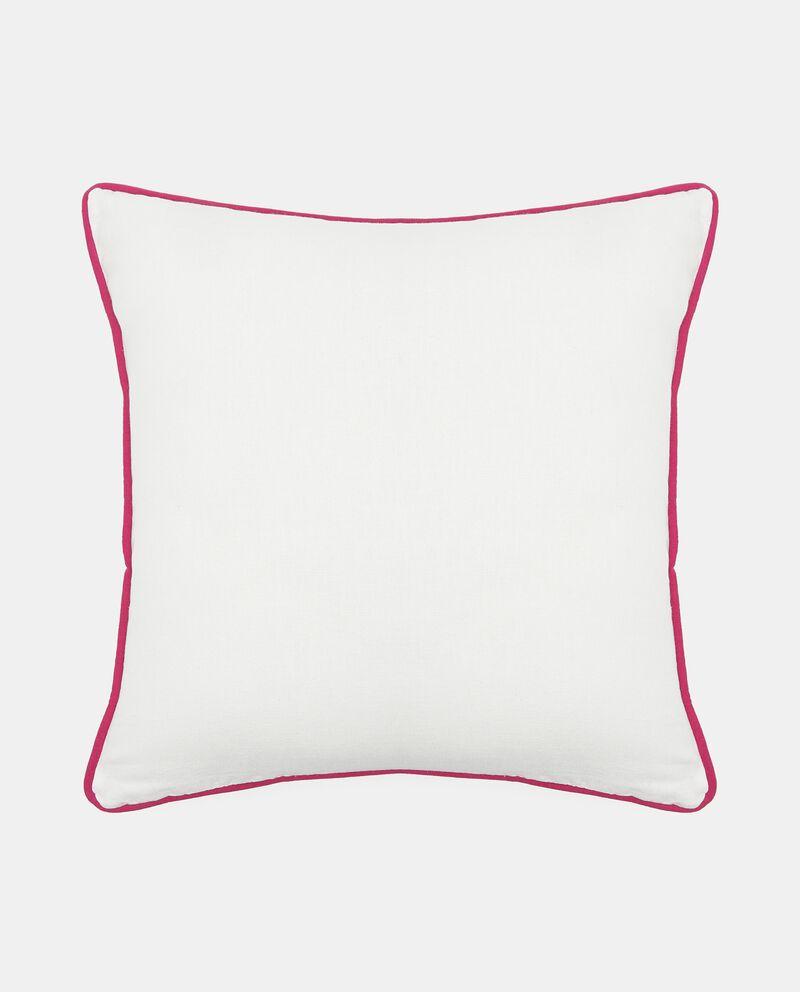 Cuscino con bordatura a contrasto