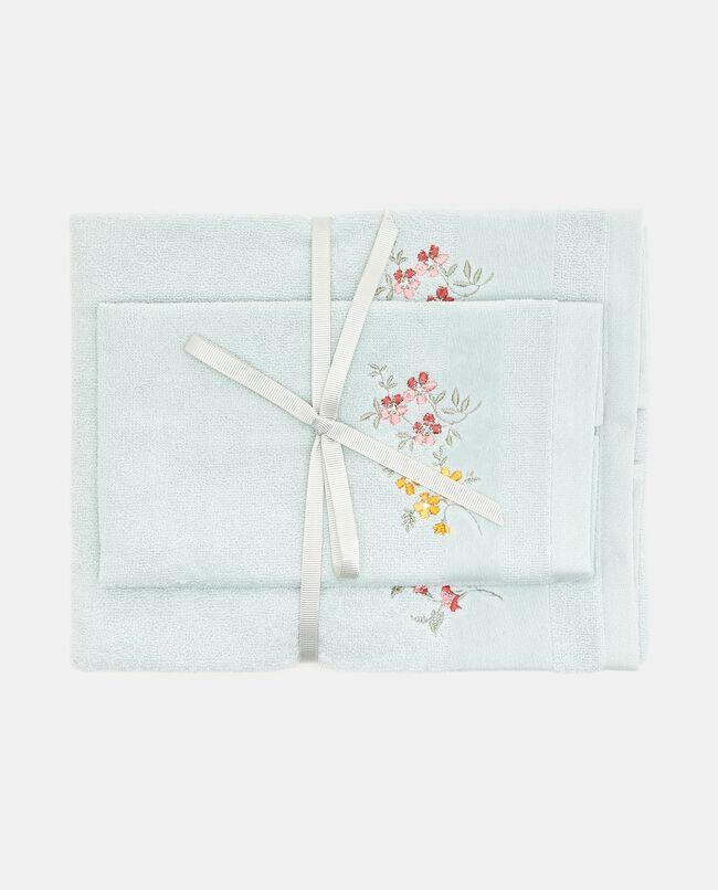 Set asciugamani con ricami