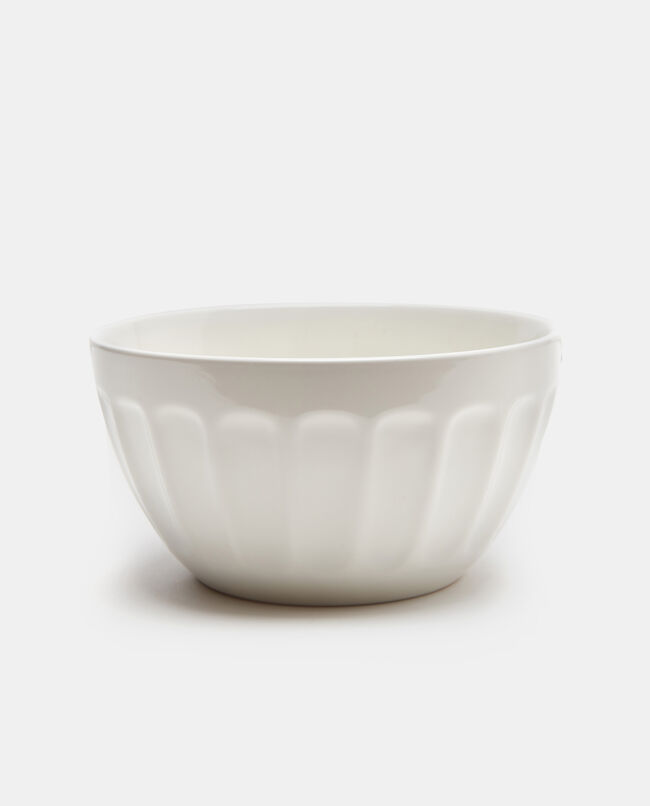 Bowl in ceramica con scanalature
