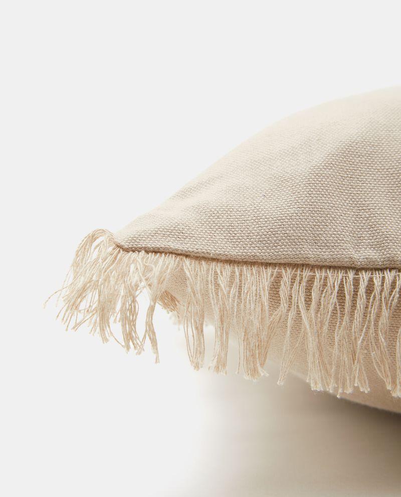 Copricuscino con frange puro cotone
