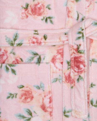 Accappatoio kimono stampa rose