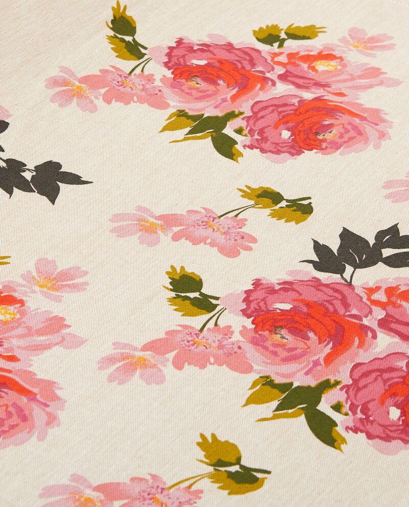 Telo multiuso con decoro rose puro cotone