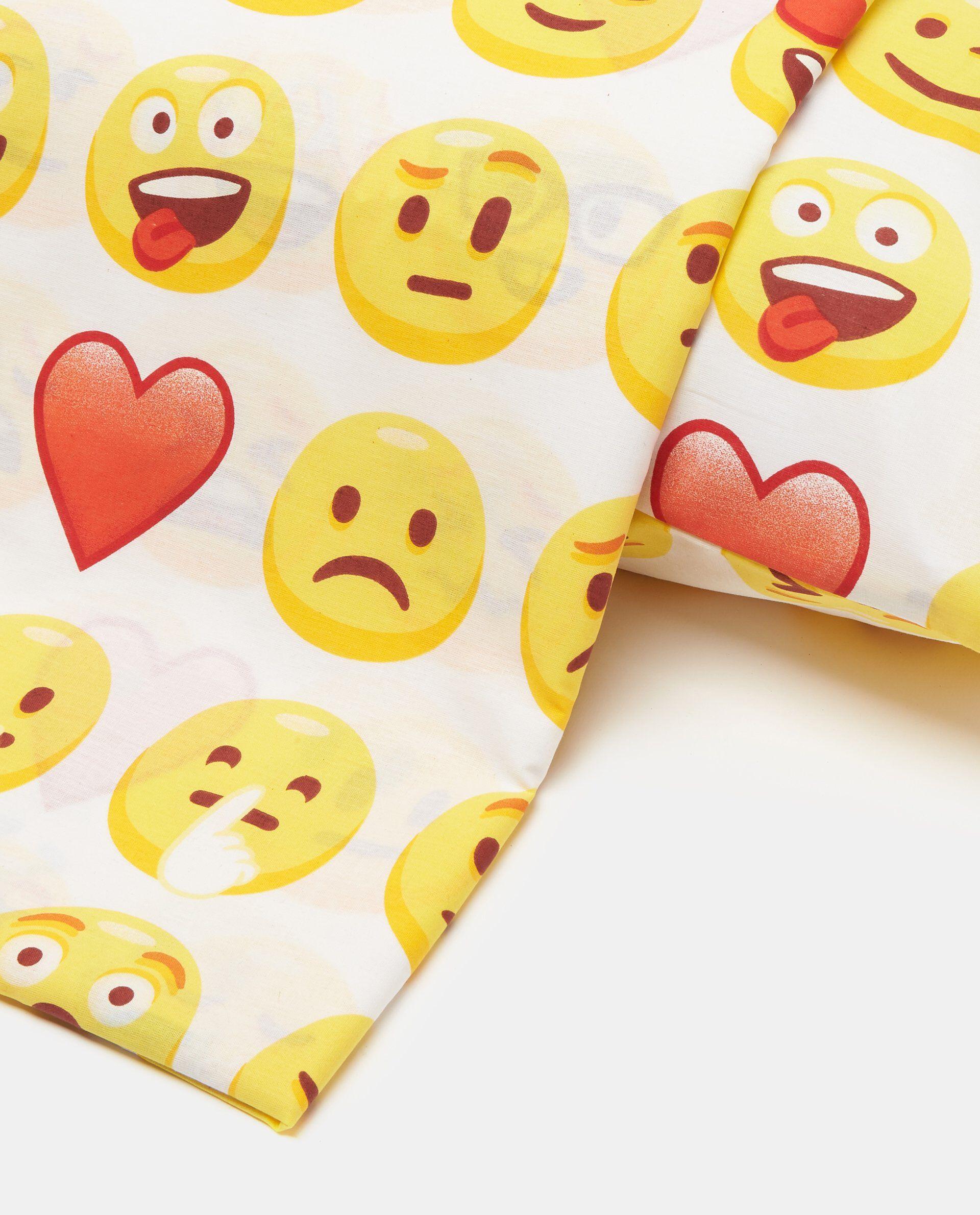 Parure copripiumino cotone emoji