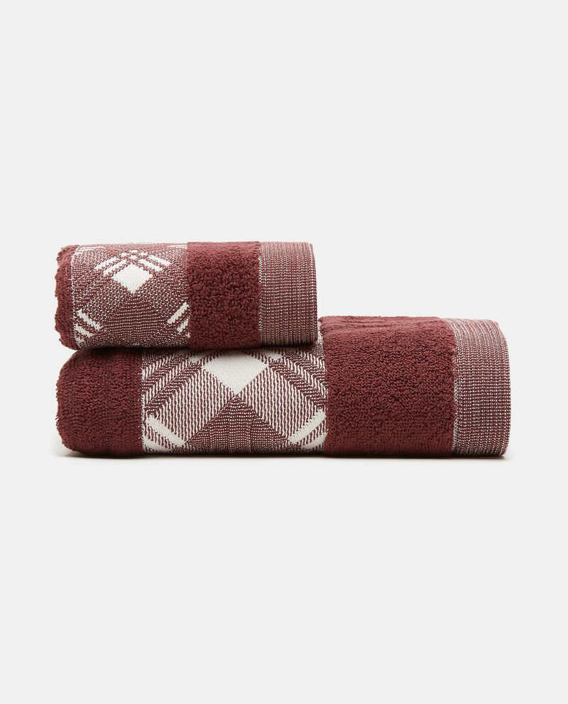 Asciugamano mani in puro cotone con bordo scozzese cover