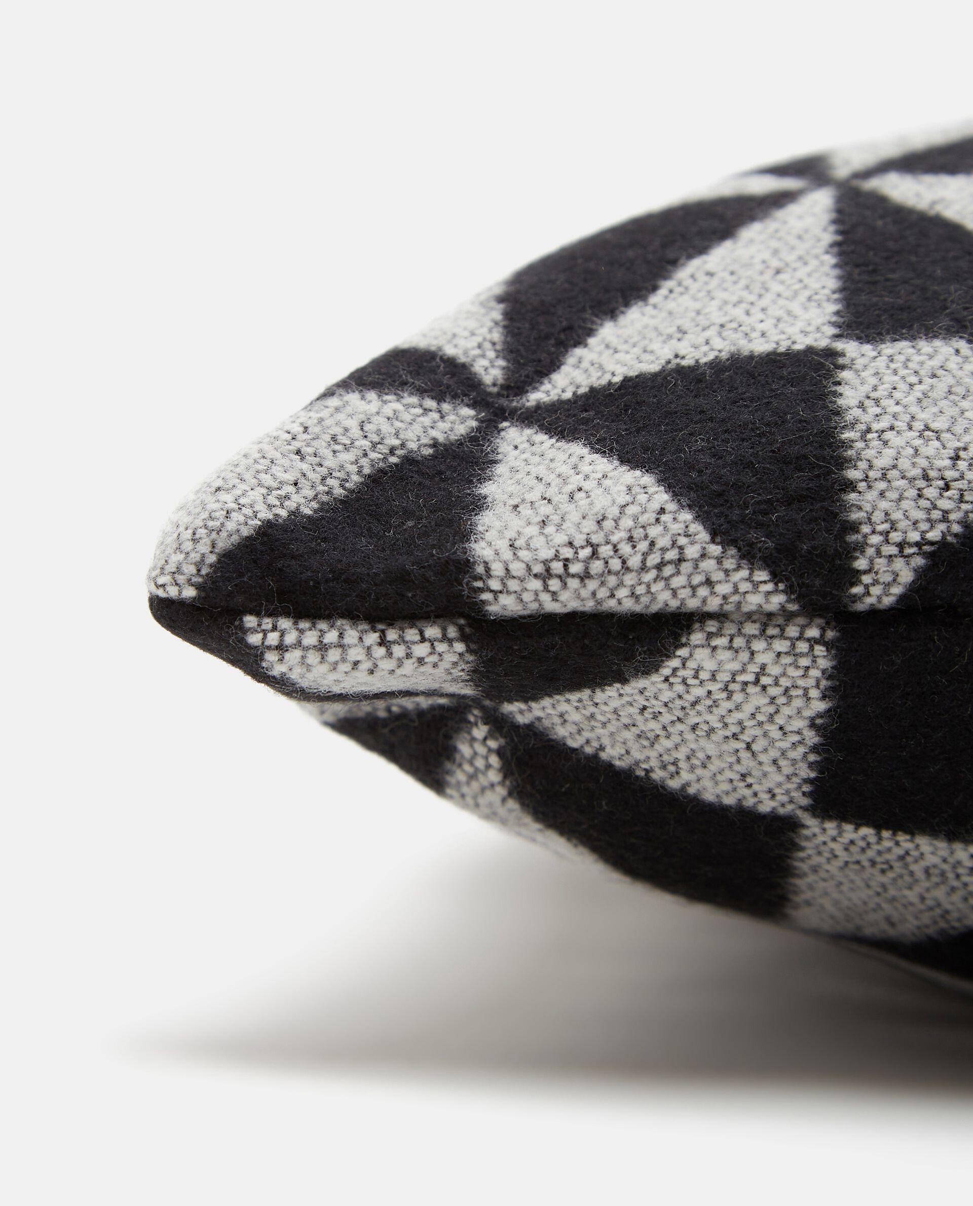Cuscino wool con stampa geometrica