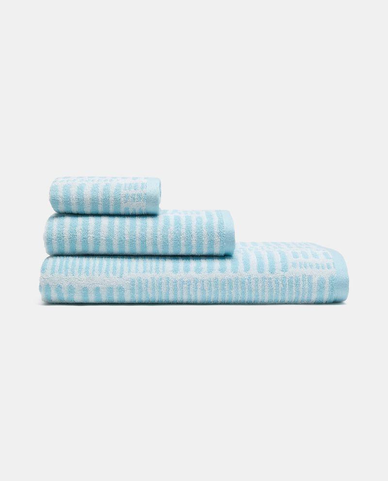 Asciugamano ospite a righine in puro cotone cover