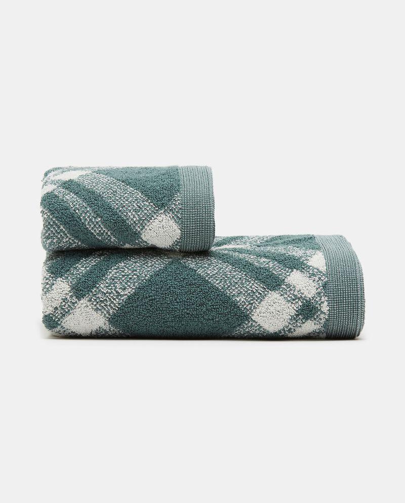 Asciugamano mani decoro scozzese in puro cotone cover