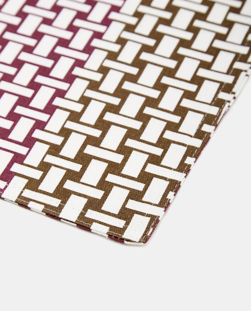 Tovaglietta con stampa intrecciata in puro cotone single tile 1
