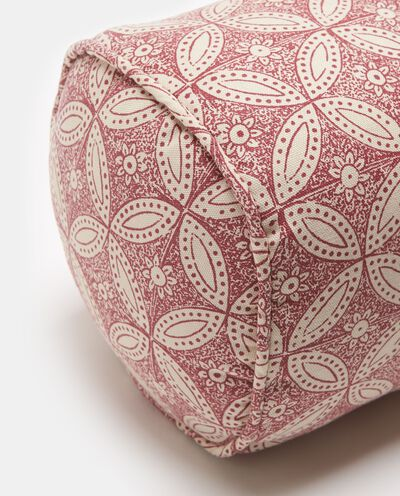 Cuscino bolster fantasia fiori e cerchi