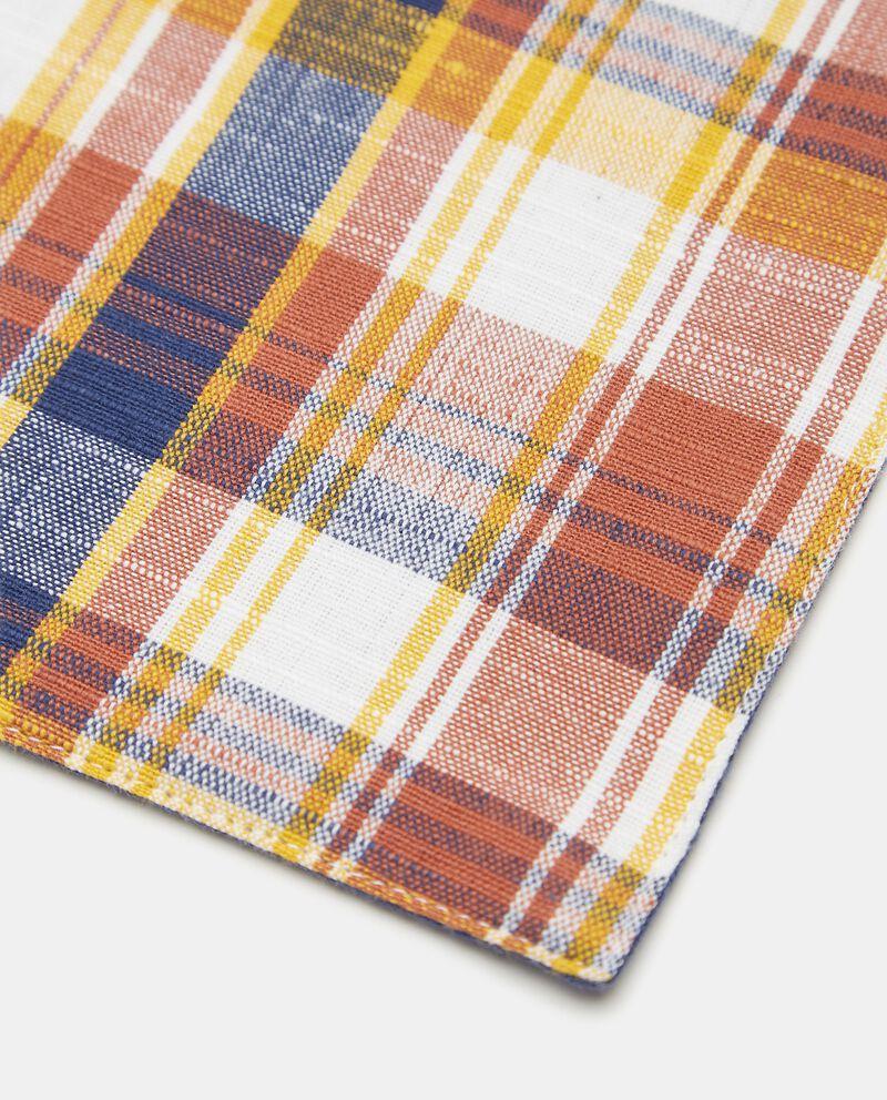 Tovaglietta a quadri double layer in puro cotonedouble bordered 1