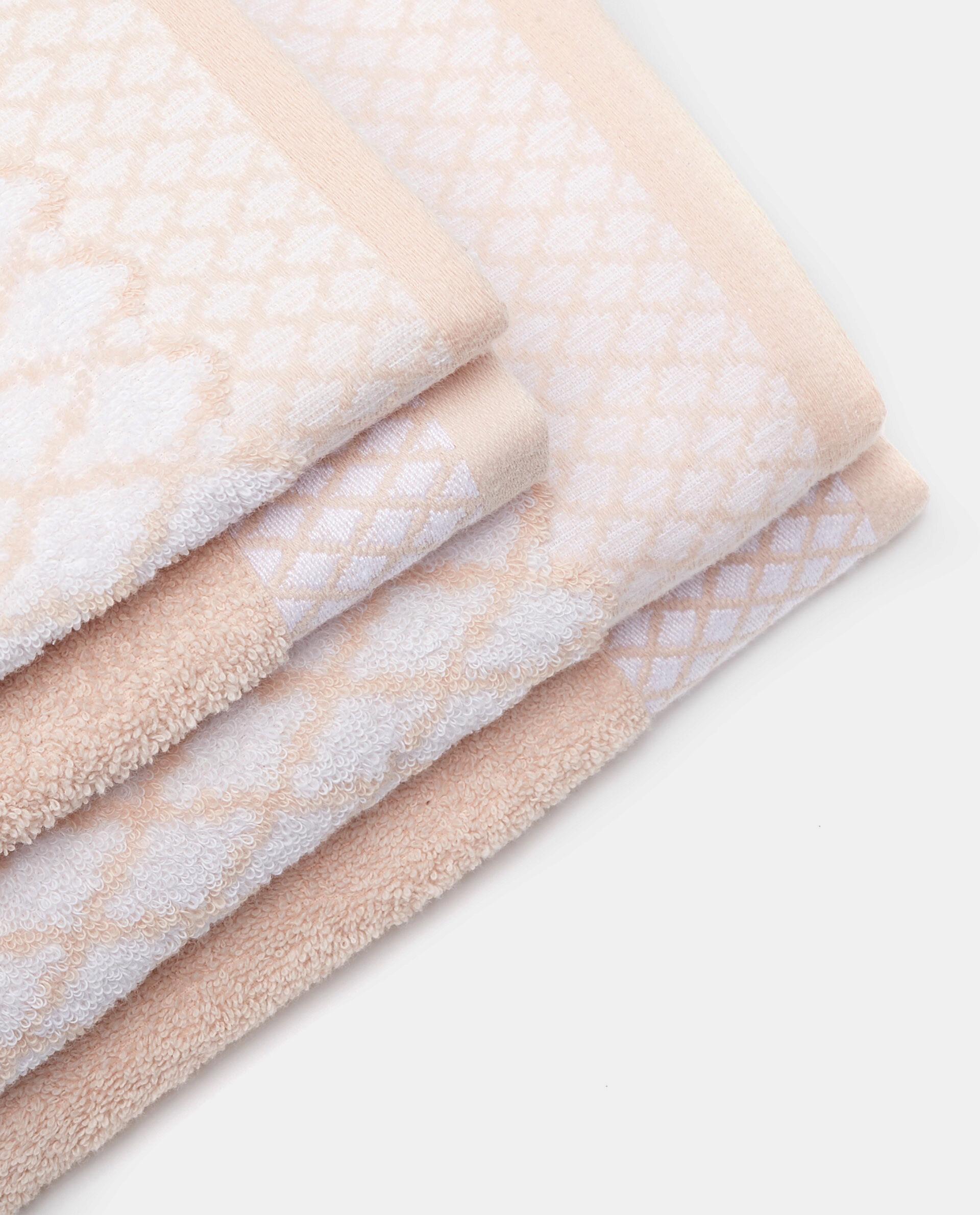 Set quattro asciugamani in cotone