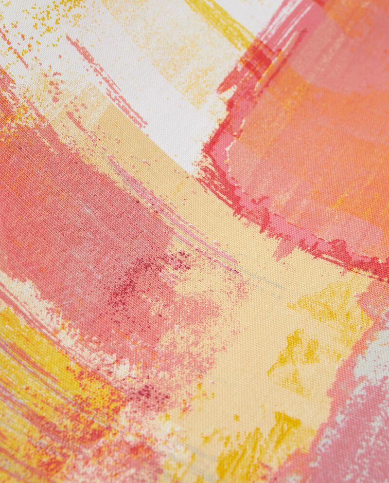Telo arredo multiuso in puro cotone stampa pennellate