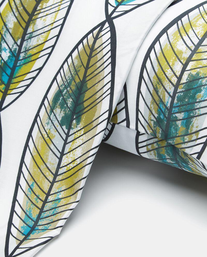Lenzuolo con stampa foglie di puro cotone