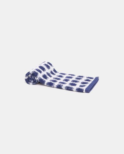 Asciugamano ospite con motivo a pois in puro cotone