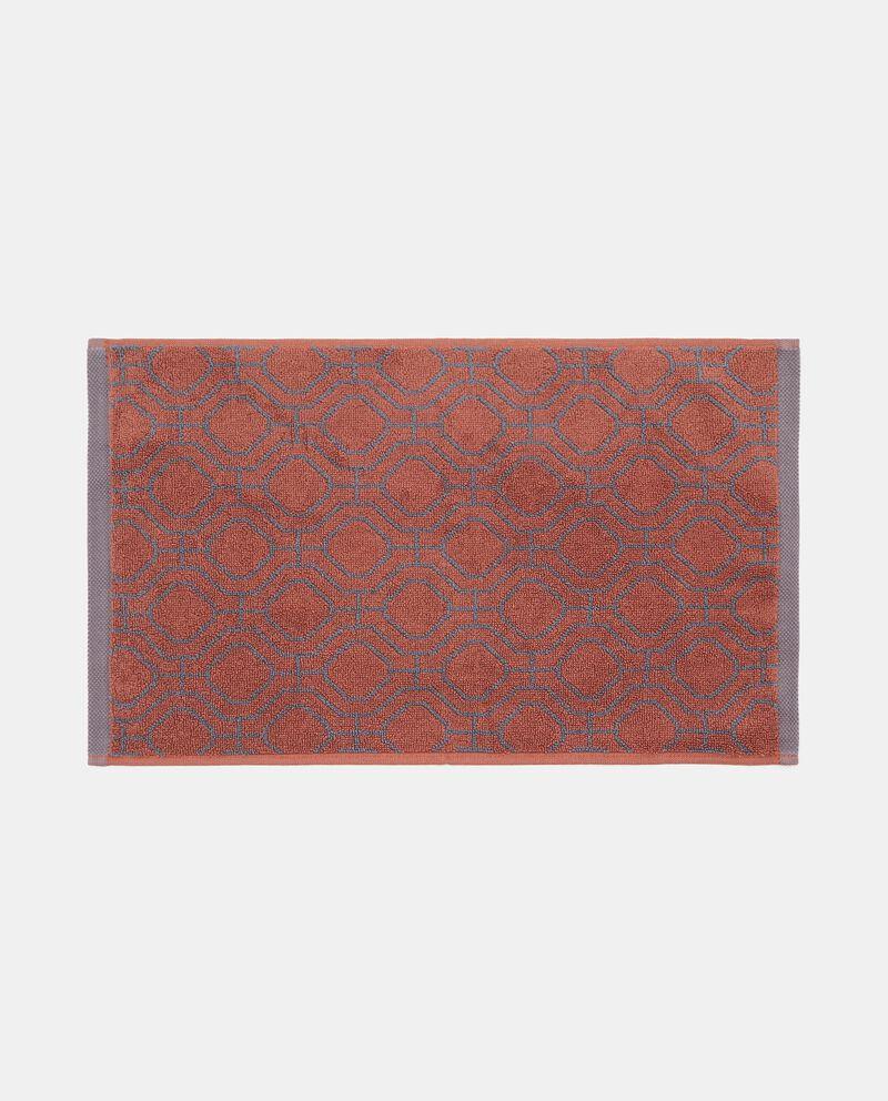 Asciugamano ospite con fantasia geometrica in puro cotone