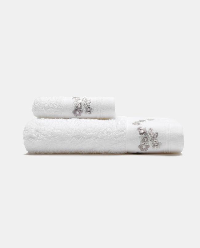 Asciugamano ospite cotone con ricamo