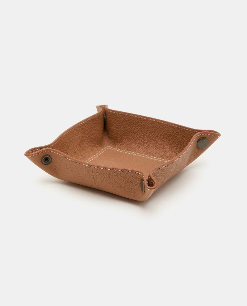 Vassoio svuota tasche in pelle di bovino cover