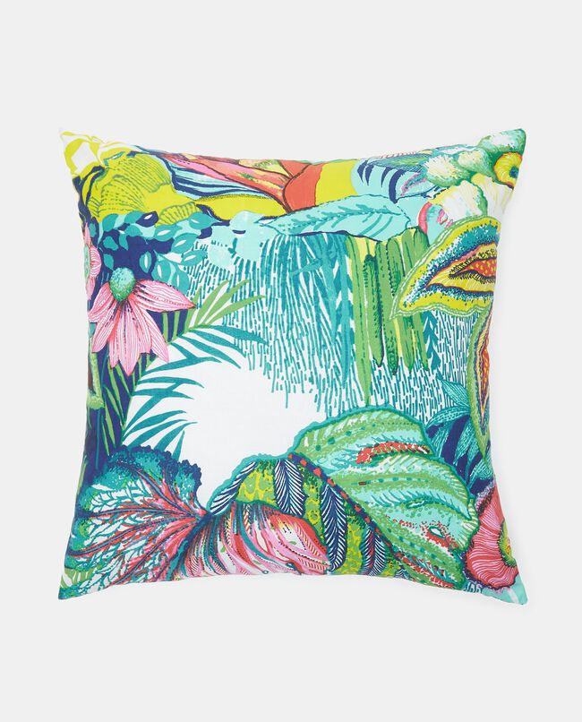 Cuscino con stampa tropicale