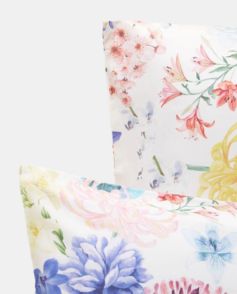 Parure lenzuolo matrimoniale e federe con fiori in raso