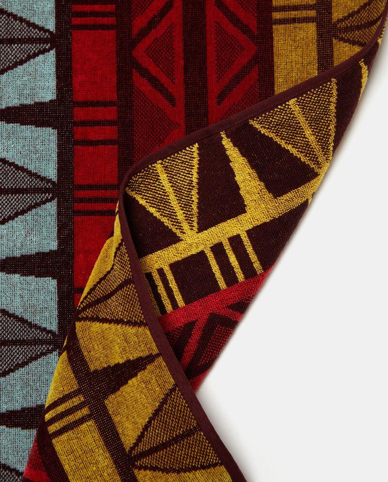 Telo mare con stampa tribale in puro cotone