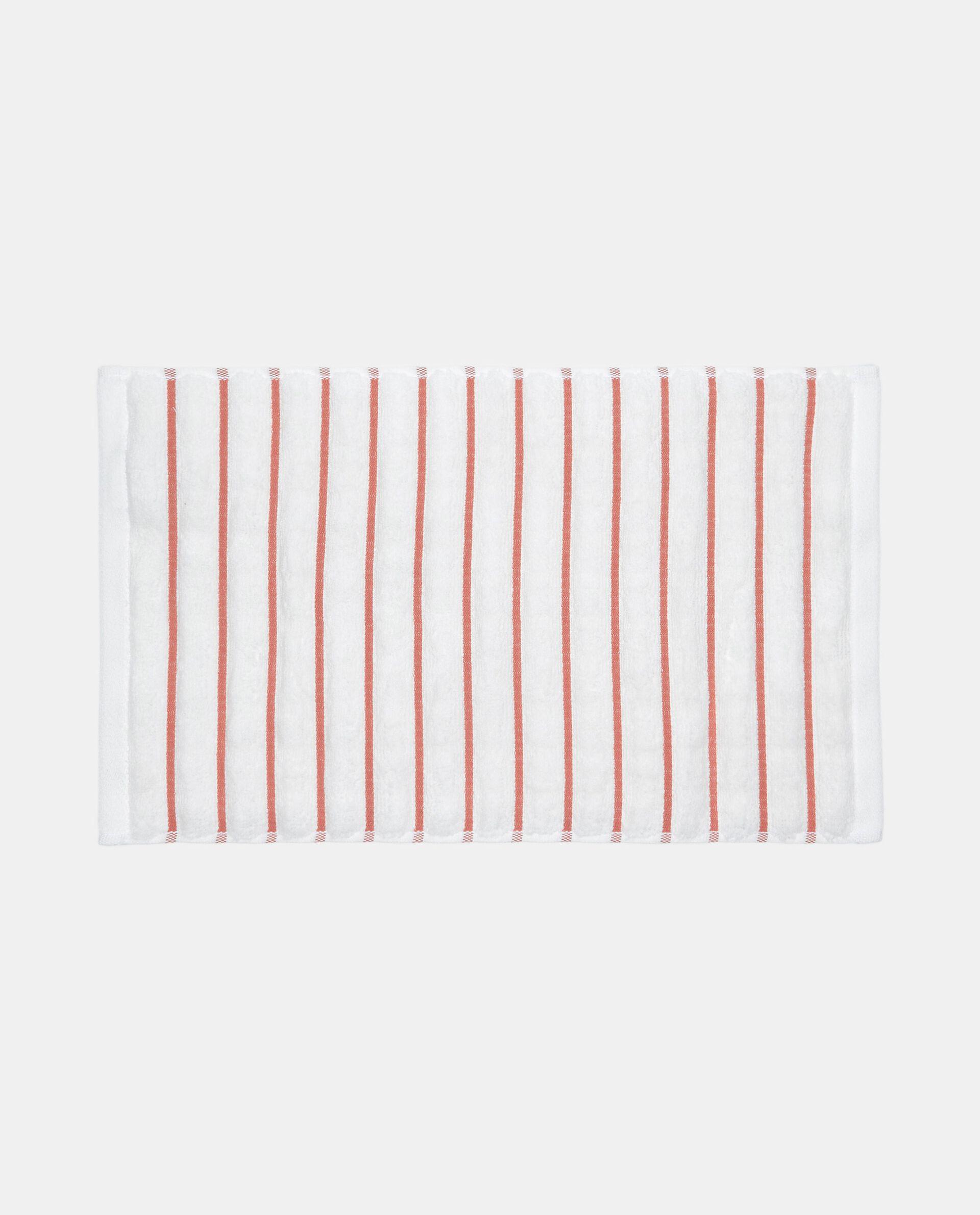 Asciugamano ospite a righe in puro cotone